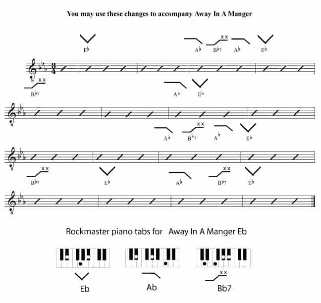 Away In A Manger - Rockmaster Songbook